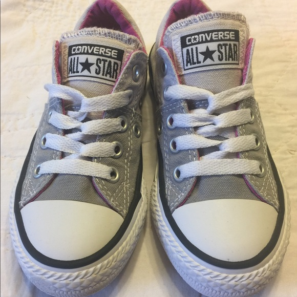 Allstar Grey Hot Pink Sneakers Euc
